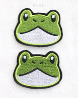 Cute Frog - Embroidered Iron-on Patch