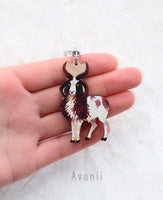 Jacob Sheep - Wooden Charm - 2 inch keychain