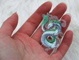 Haku Japanese Dragon - Acrylic Charm - 2 inch double sided keychain