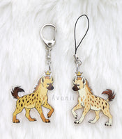 Royal Beasts: Hyena - Acrylic Charm - 2 inch double sided keychain