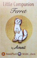 Albino Ferret Hard Enamel Pin
