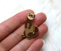 Brown Ferret Hard Enamel Pin
