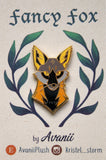 Fancy Cross Fox - Hard Enamel Pin