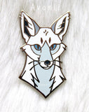 Fancy White  Fox - Hard Enamel Pin