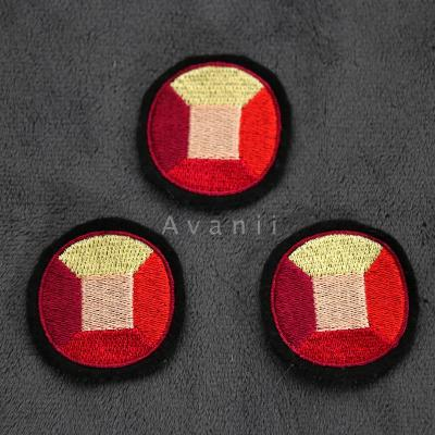 Ruby Gem - Embroidered Iron-on Patch