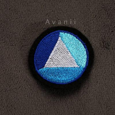 Sapphire Gem - Embroidered Iron-on Patch