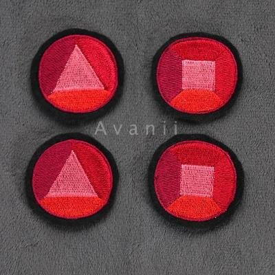 Garnet Gems - Embroidered Iron-on Patches
