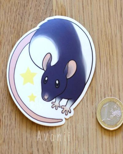 Stellar Rat - Vinyl Sticker