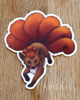 Vulpix / Kitsune Fire Fox - Vinyl Sticker
