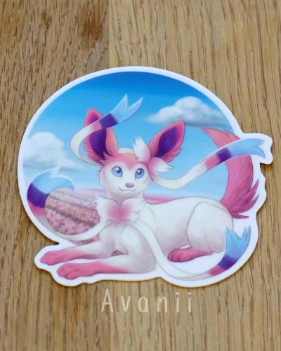 Sylveon / Fairy Fox - Vinyl Sticker