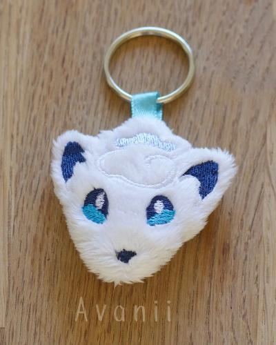 Alolan Vulpix / Snow Fox - Soft Charm / Keychain Plush