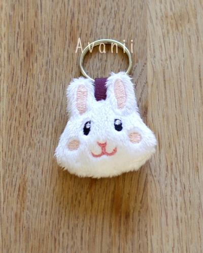 Bunny / Rabbit - Soft Charm / Plush Keychain