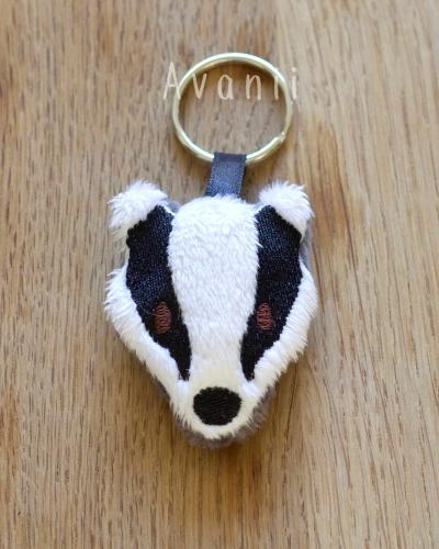 Badger - Soft Charm / Keychain Plush