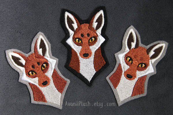Red Fox Embroidered Iron-on Patch