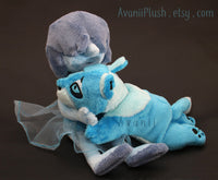Lion Blue Diamond - Minky beanie plush
