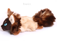Kitsune Cub - Siamese Fox - small floppy - handmade plush animal