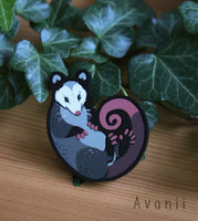 Little Companion: Opossum - acrylic pin