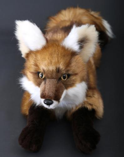 Large Red Fox - Handmade plush animal - realistic faux fur