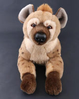 Large Spotted Hyena - handmade plush animal - realistic faux fur