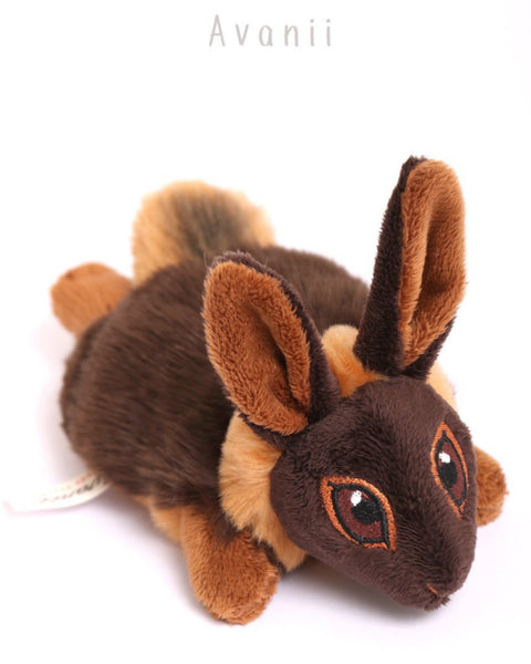 Brown and Tan Rabbit / Bunny - small floppy - handmade plush animal
