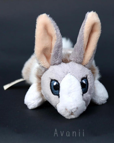 Lilac Dutch Rabbit / Bunny - small floppy - handmade plush animal