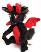 Black Demon / Devil - handmade fantasy plush - minky miniature