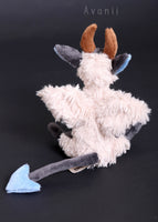 Feathered Demon / Devil - handmade fantasy plush - minky miniature