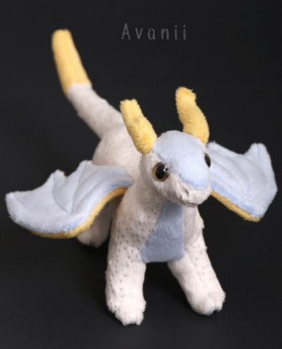 Celestial Dragon - Handmade original plush - minky miniature
