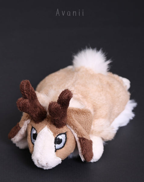 Sandy Jackalope / Horned Rabbit - small floppy - handmade plush animal