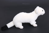 Ermine / White Weasel - Handmade plush animal - realistic faux fur