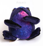 Big Galaxy Toad / Frog - handmade plush animal - minky miniature