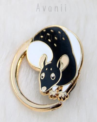 Little Companion:  Black Rat Hard Enamel Pin