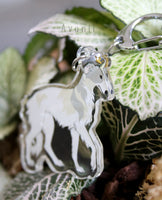 Royal Beasts: Borzoi - Russian Wolfhound - Acrylic Charm - 2 inch double sided keychain