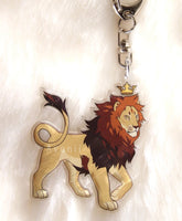 Royal Beasts: Lion -  Acrylic Charm - 2 inch double sided keychain