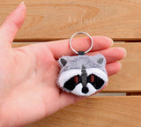 Raccoon - Soft Charm / Keychain Plush