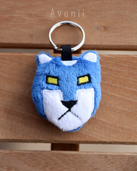 Blue Robot Lion - Soft Charm / Keychain Plush
