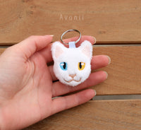 White Cat - Soft Charm / Keychain Plush