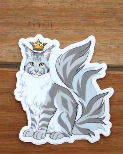 Royal Beasts: Maine Coon Cat - Vinyl Sticker