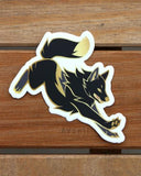 Dashing Wolf Black Dawn - Vinyl sticker