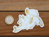 Dashing Wolf White Dusk - Vinyl sticker