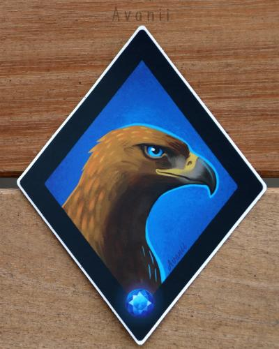 Magical Animal: Blue Eagle - Vinyl Sticker