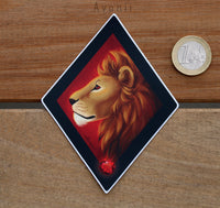 Magical Animals: Red Lion - Vinyl Sticker