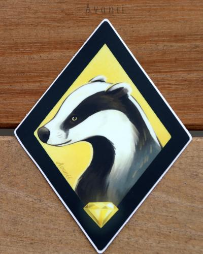 Magical Animals: Yellow Badger - Vinyl Sticker