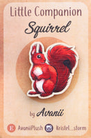 Little Companion: Red Squirrel - wood pin