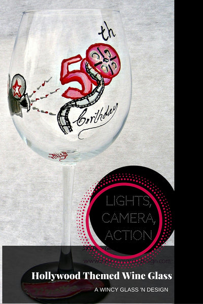 Hollywood_Themed_Hand_Painted_Wine_Glass_1