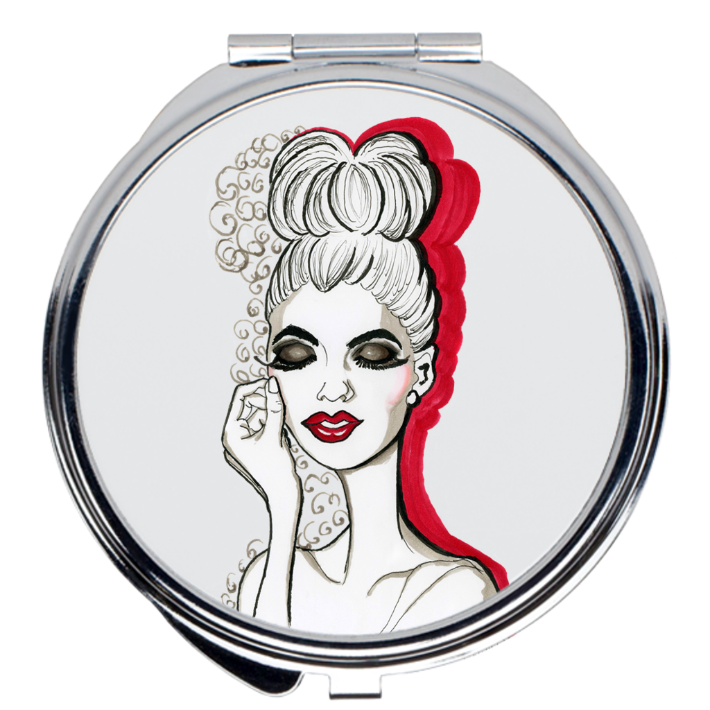 Miss Smokey Compact Mirrors - A Wincy Glass N Design
