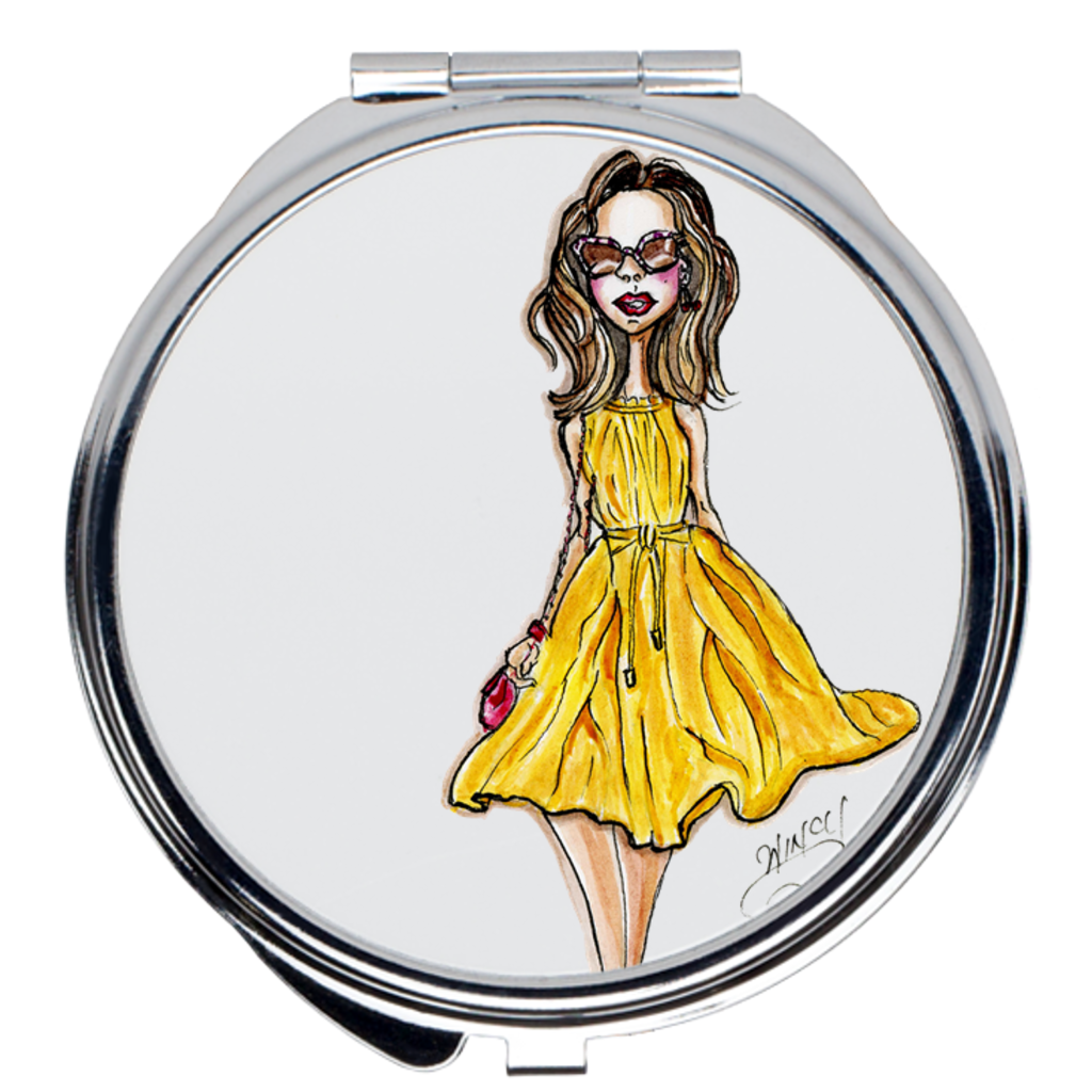Miss Sunshine Compact Mirrors - A Wincy Glass N Design