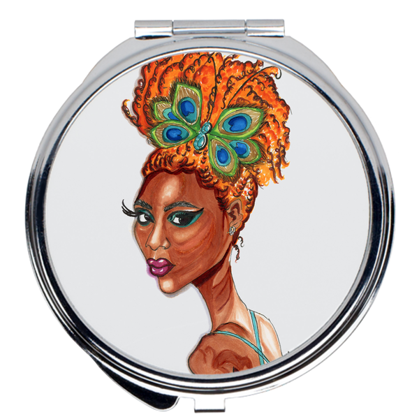 Peacock Butterfly Pinup Compact Mirrors - A Wincy Glass N Design
