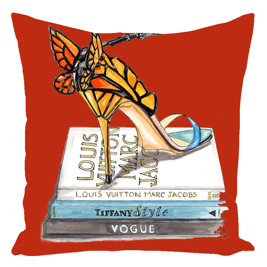 Butterfly Wing Sandal Throw Pillow - A Wincy Glass N Design