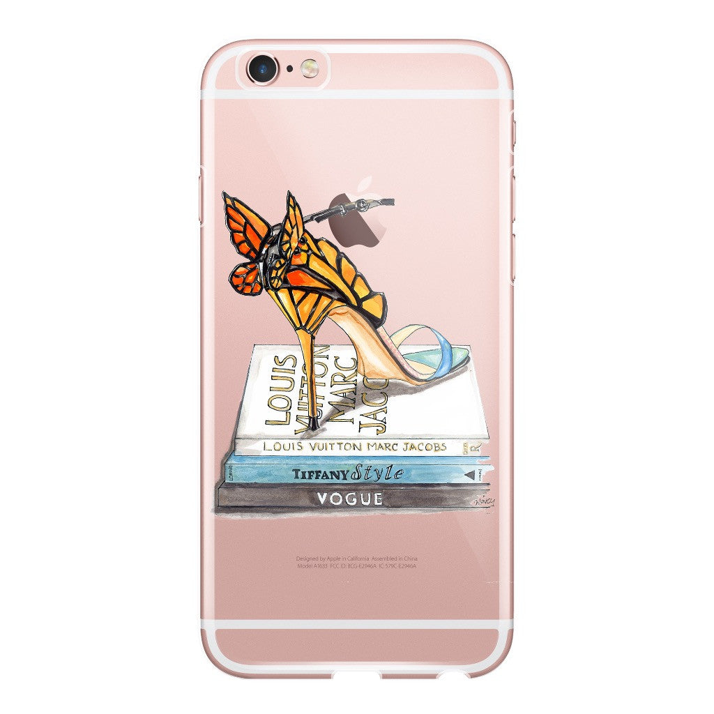 Butterfly Wing Sandal Fashion Illustration Phone Case - A Wincy Glass N Design